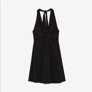 8f2ee0d5053 Zara Dresses - NWT Zara Black Halter Dress with Ring Detail